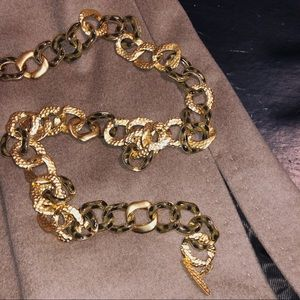 Accessories - Vintage Tortoise Shell Chain Belt